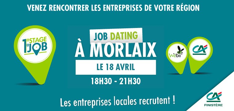 Morlaix. Un job dating à destination des jeunes le 18 avril